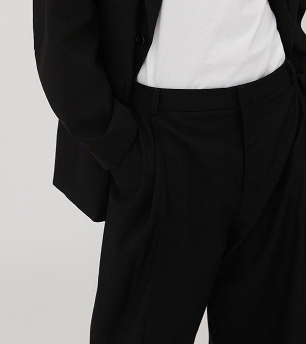 BYD1604 立體打褶落地西褲