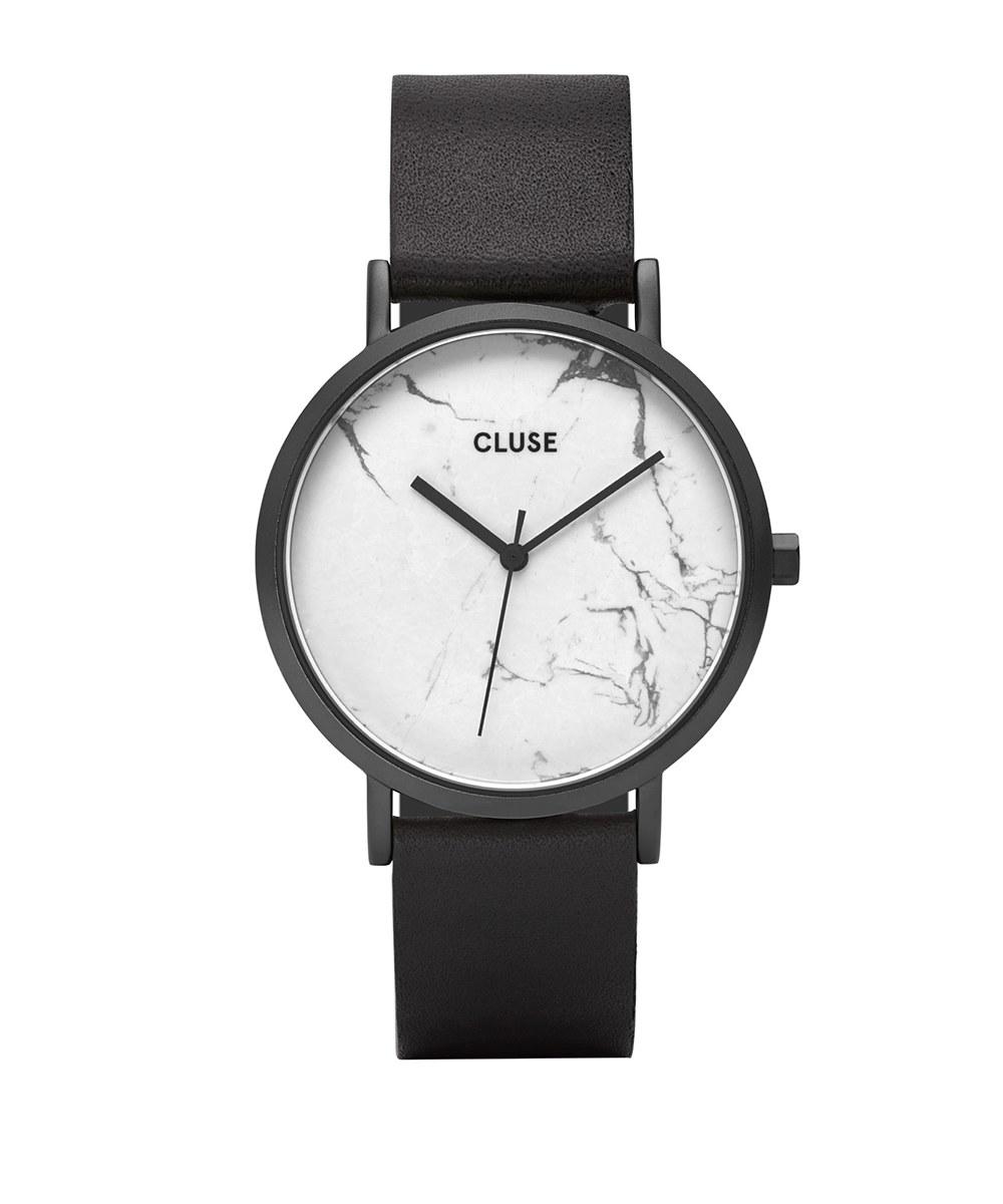 CLU9927 CL40002 大理石紋皮革腕錶 La Roche Full Black White Marble