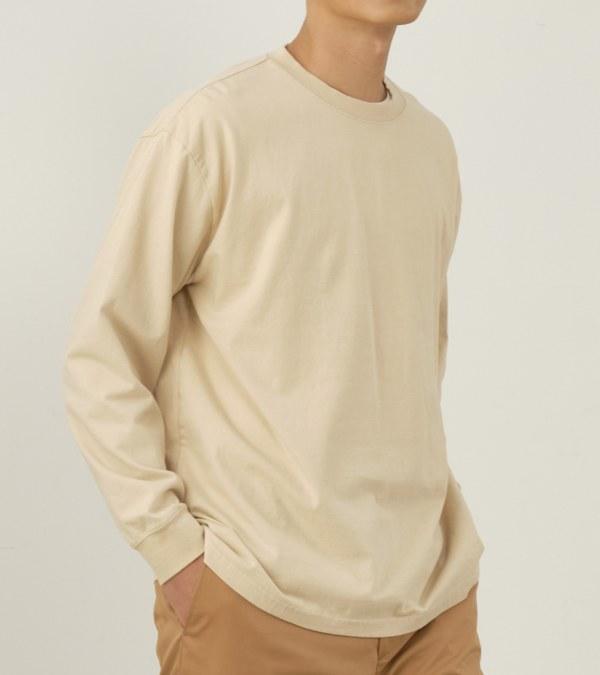 COP0044 【好著】水洗棉質長袖寬版TEE