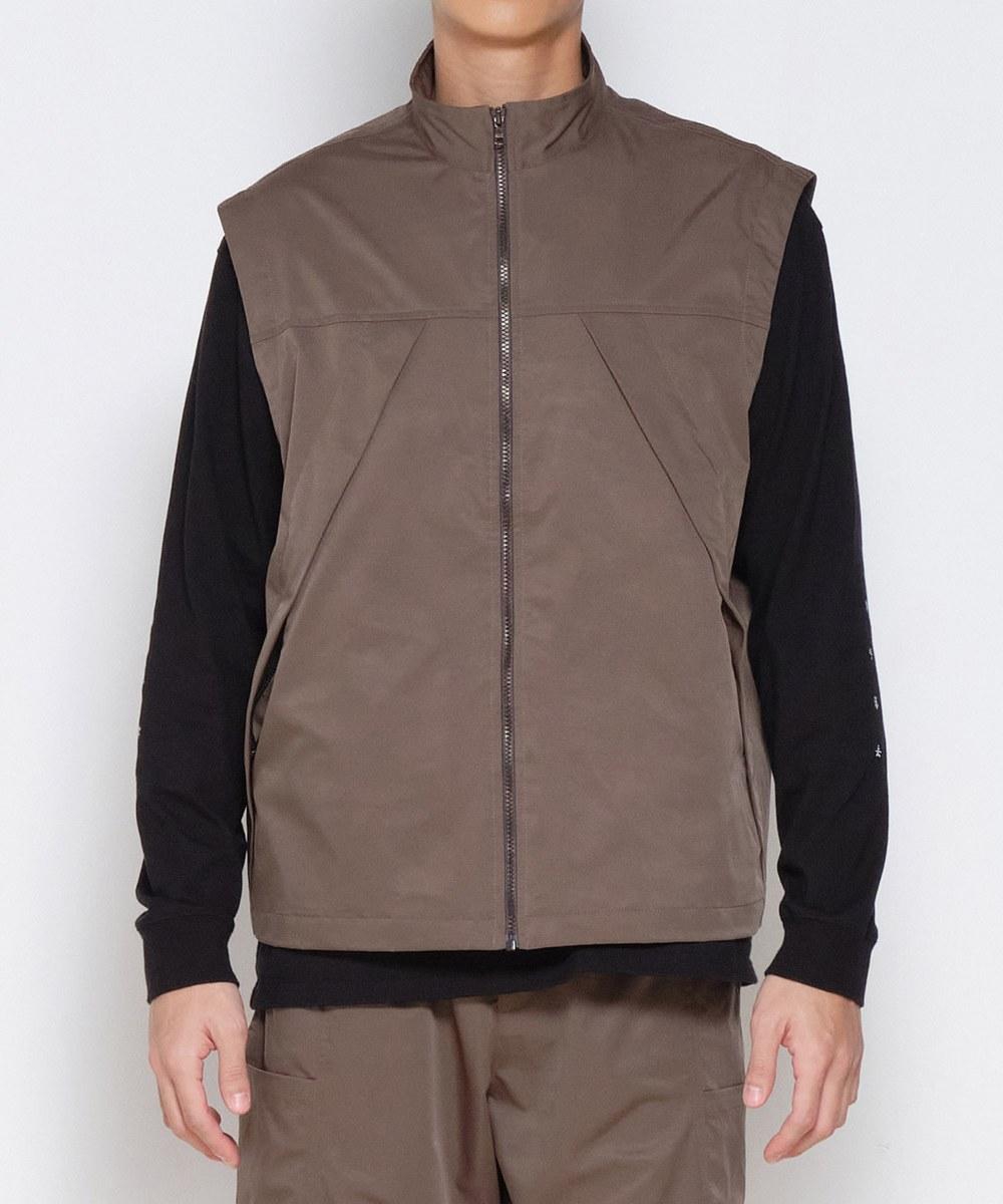 COP0520 光澤感拉鍊背心外套