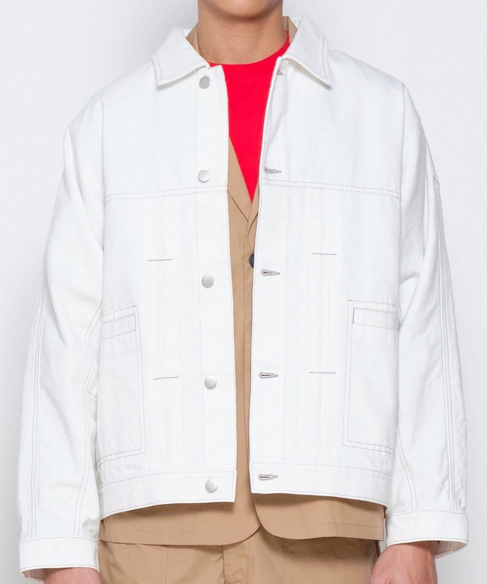 COP11102 水洗鬆身丹寧夾克