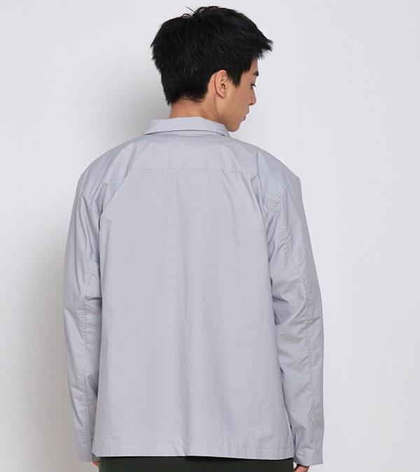 COP11108A 防潑水高密棉質開領釦式外套
