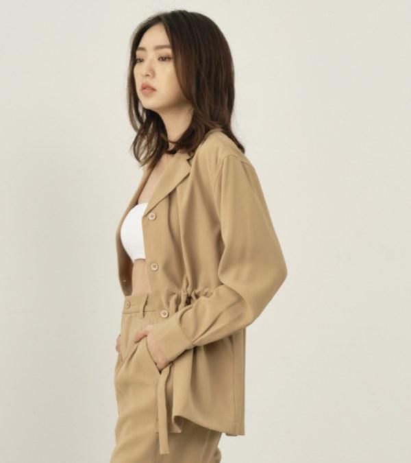 COP1189 【好著】女款垂墜感綁帶襯衫
