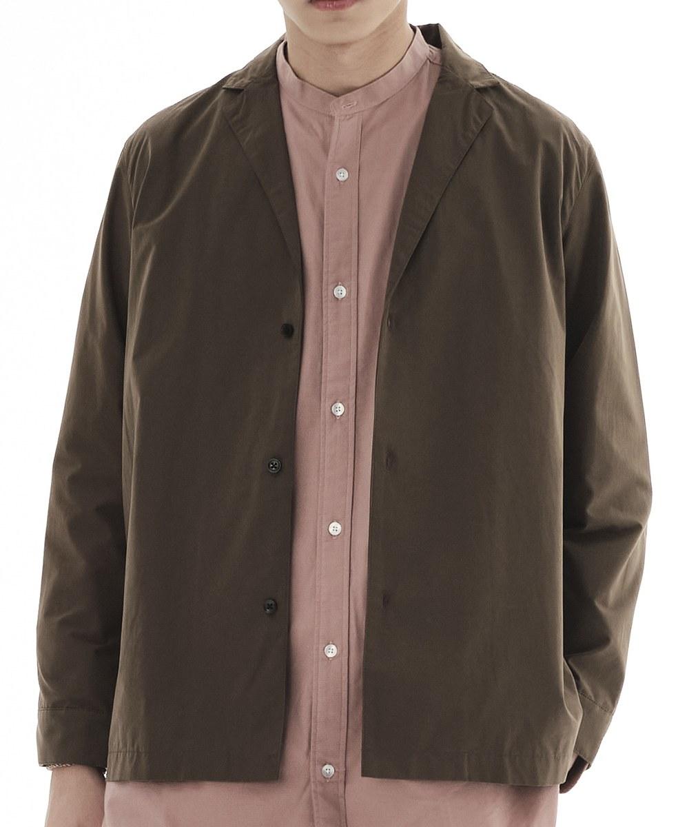 COP33145A 桃絨西裝領襯衫