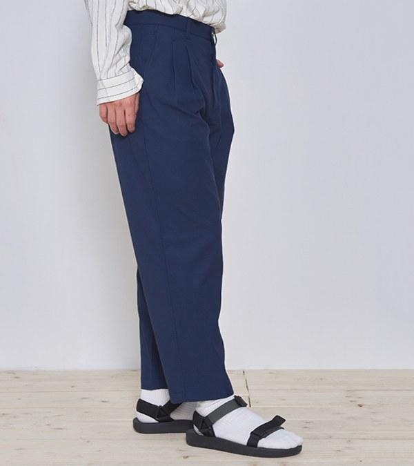 COP3584 棉麻混紡吸濕快乾九分褲