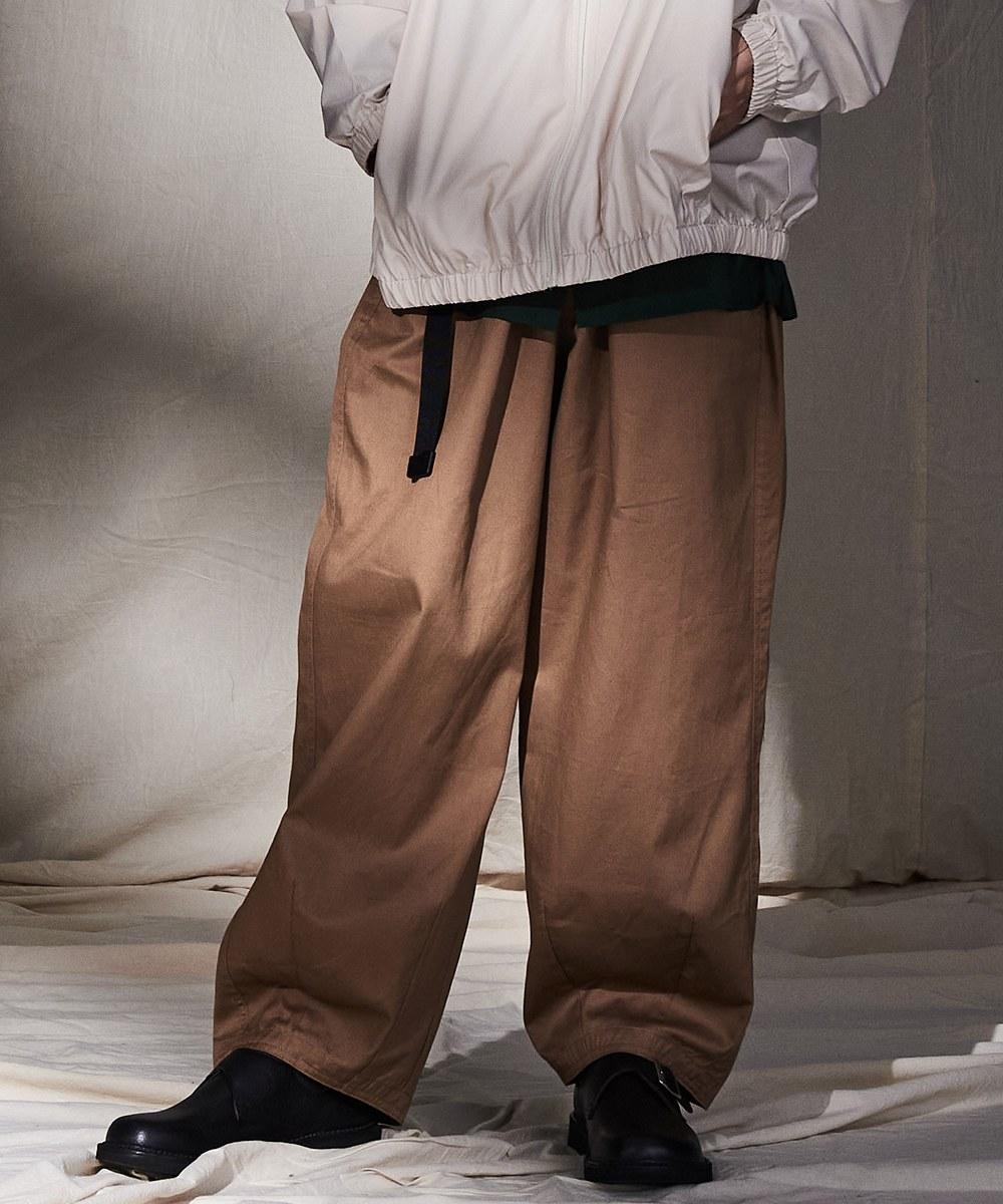 COP4054- 斜紋棉質繭形寬褲