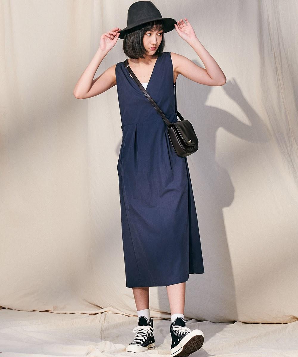 COP5010 側釦調節寬鬆背心裙
