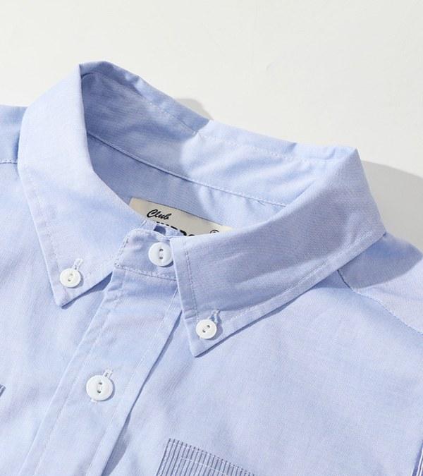 CSB0206 Old Man Fatigue Shirt 拼接襯衫