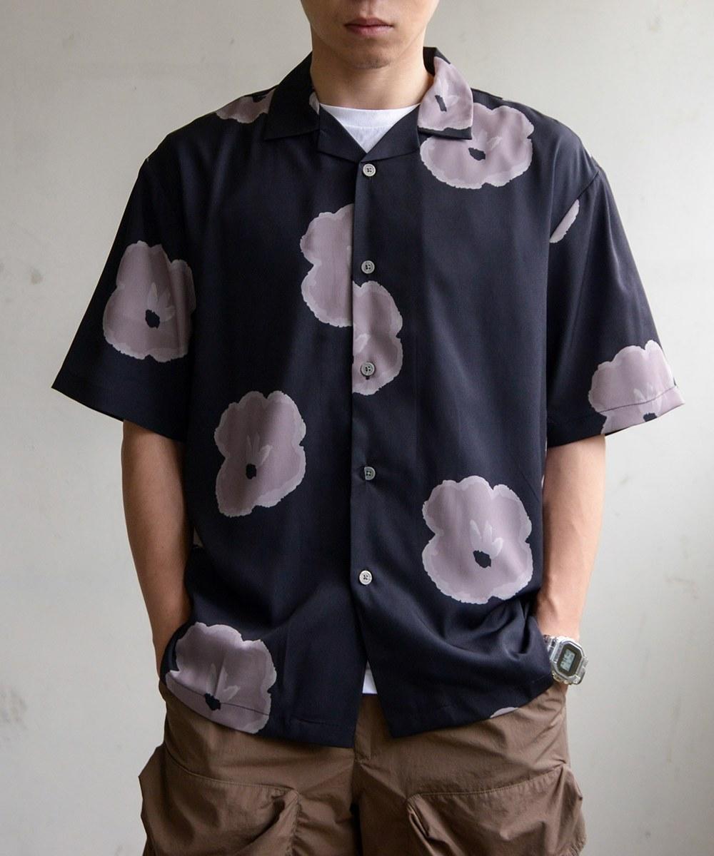 CVN0216 FLOWER PATTERN S/S SHIRTS 印花開領襯衫