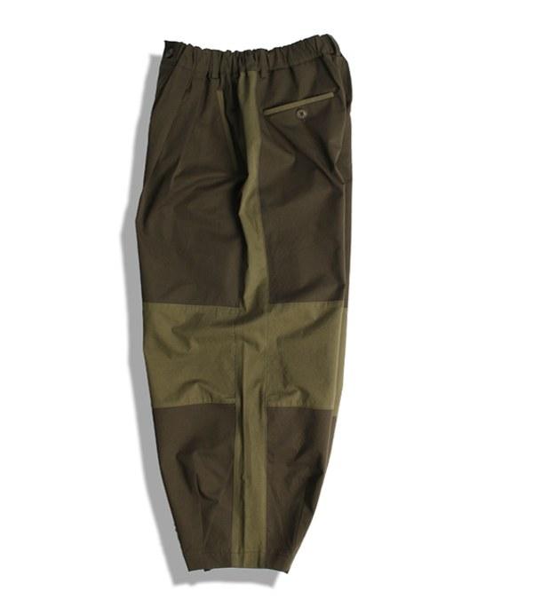 DRN1610 LINE PANTS 拼接寬褲