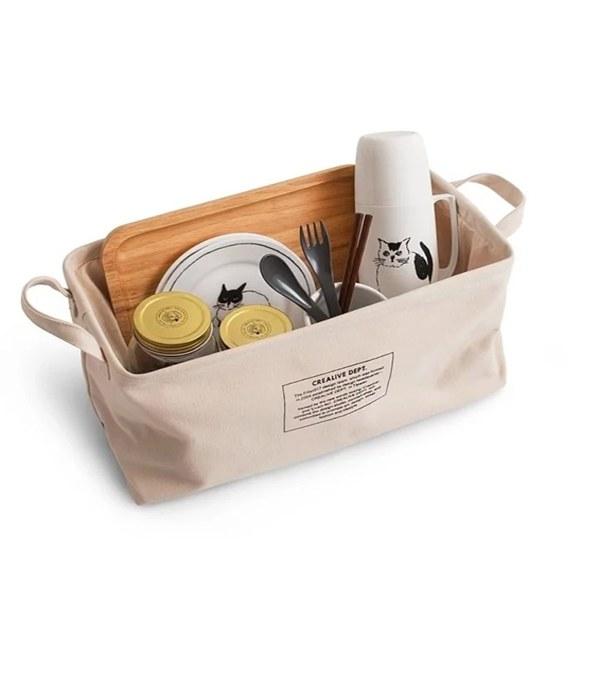 FLT3913 Canvas Storage Basket 帆布置物籃