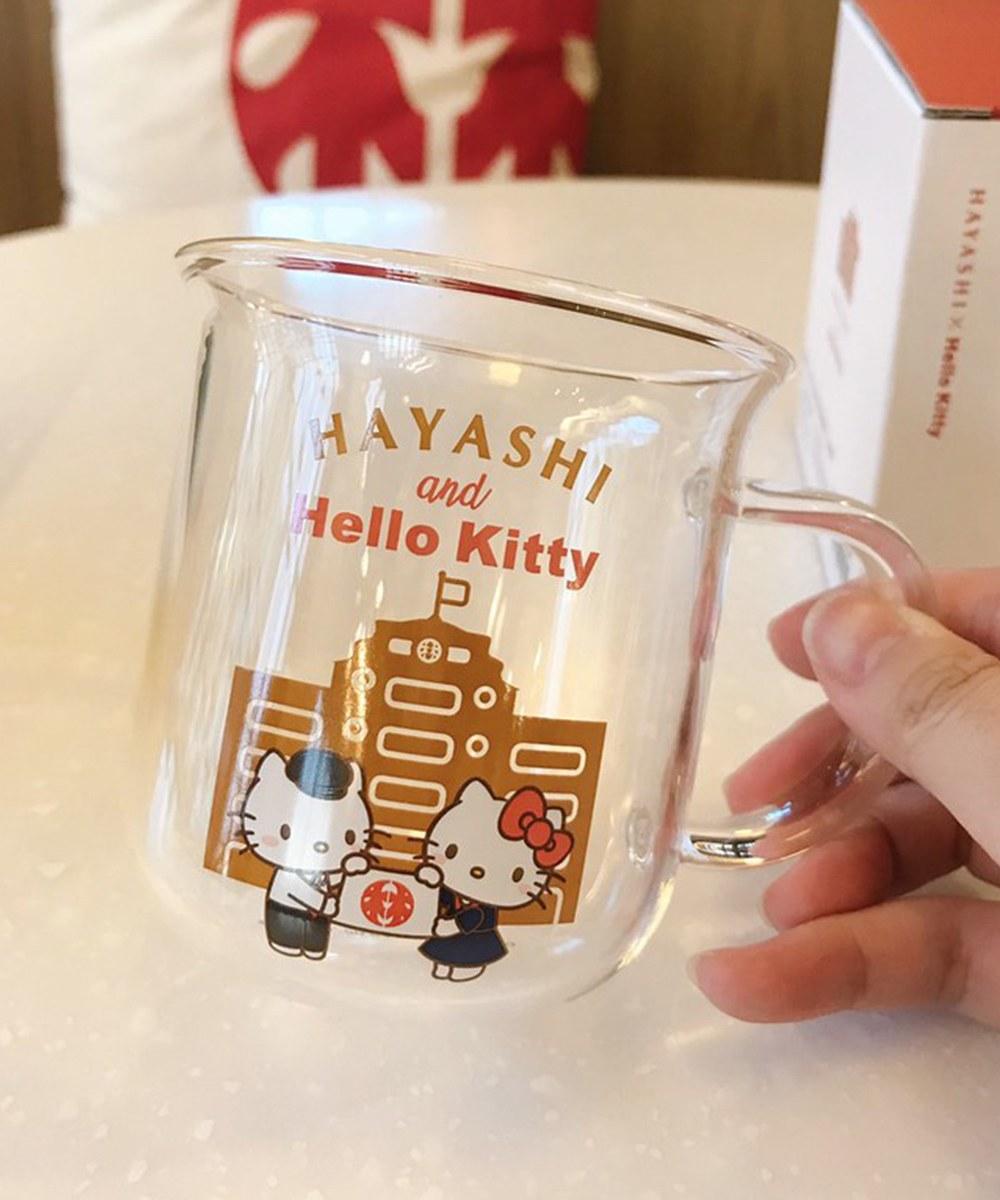 HYS9907 林建築夏日涼藝玻璃杯-林百貨xHello Kitty