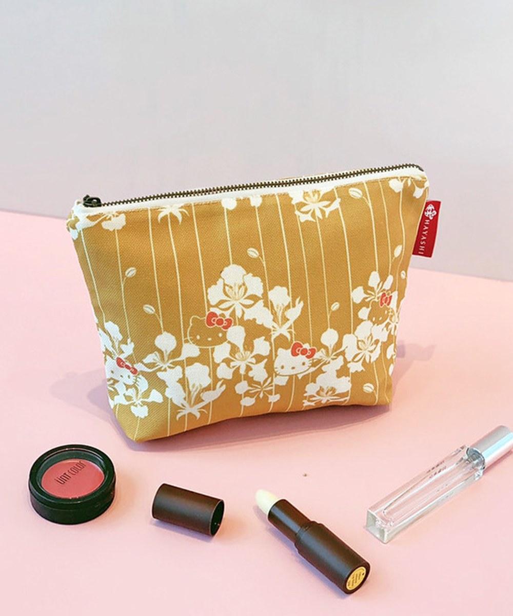 HYS9909 鳳凰花黃日式化妝包-林百貨xHello Kitty