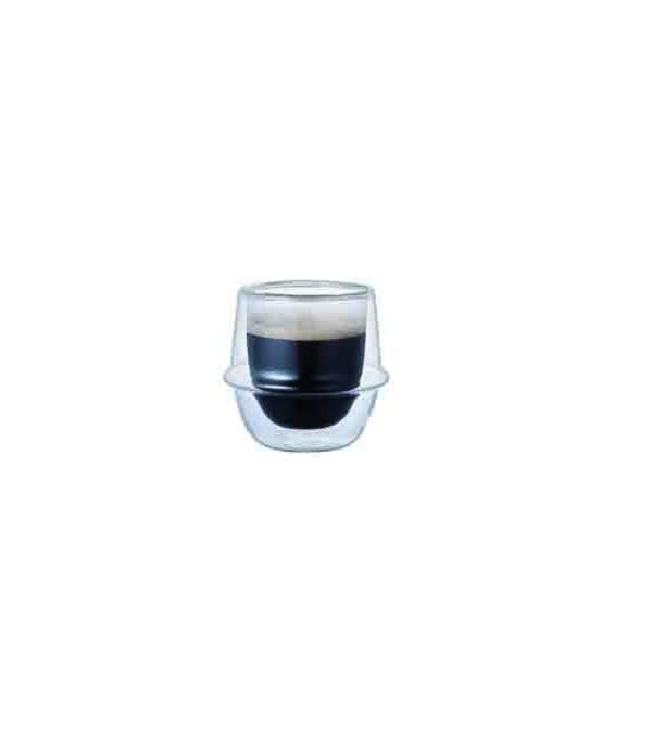 KNT9977 KRONOS雙層玻璃濃縮咖啡杯 80ml