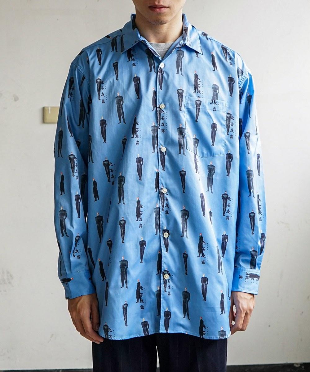 LNY0201 SICK YOLO 80's YANKEE KAIKIN SHIRTS 印花開領襯衫