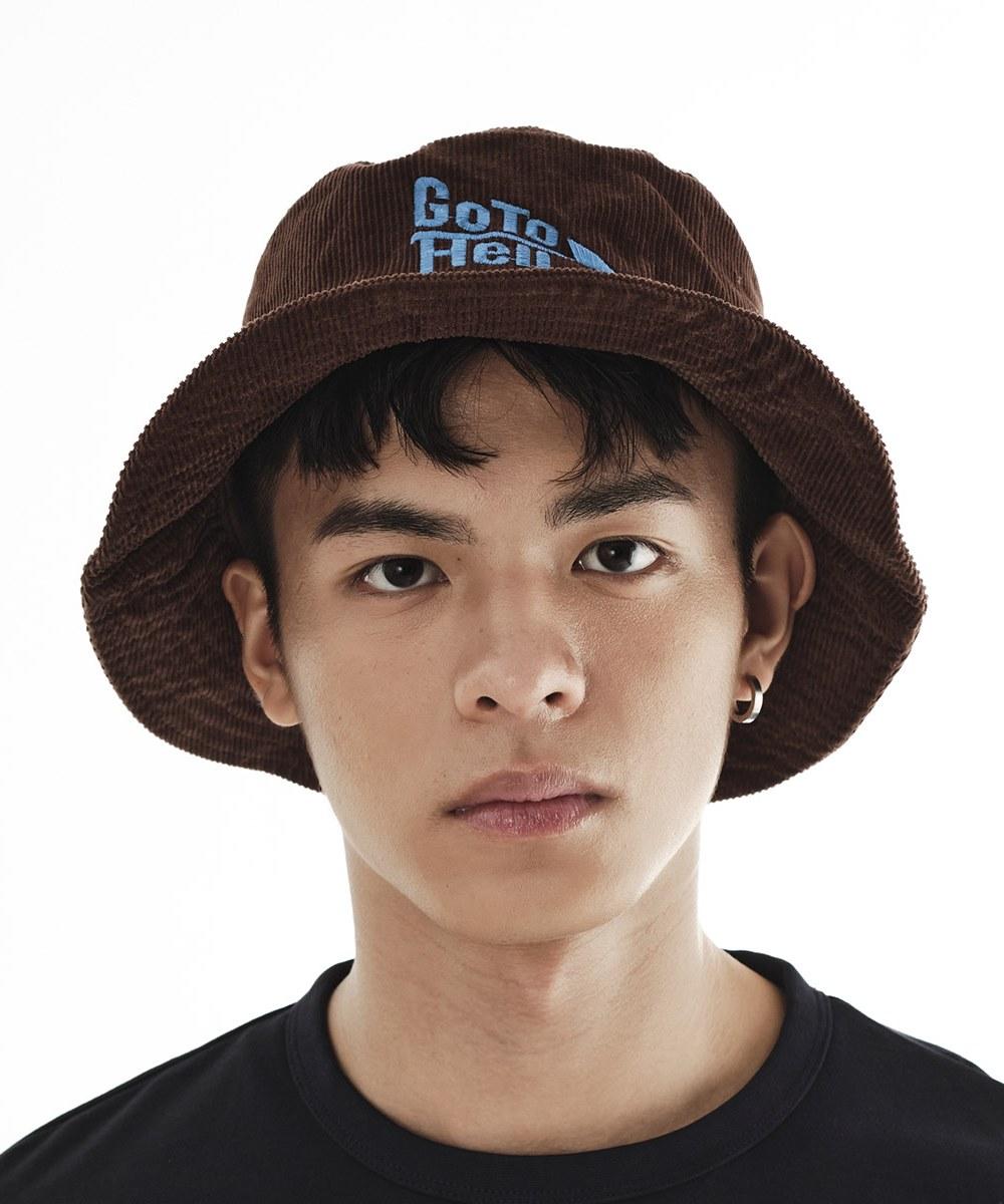 LNY2306 GO TO HELL CORDUROY HAT 燈芯絨漁夫帽