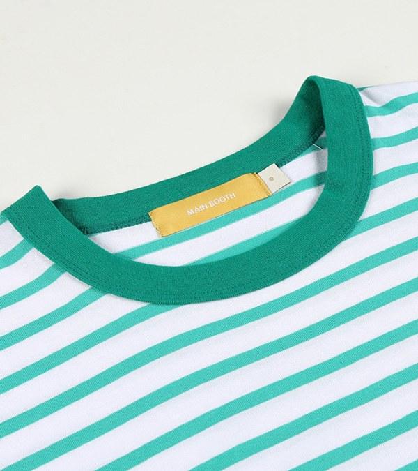 MBT0133 Chip n Dale Stripe T-shirt 奇奇與蒂蒂條紋短T