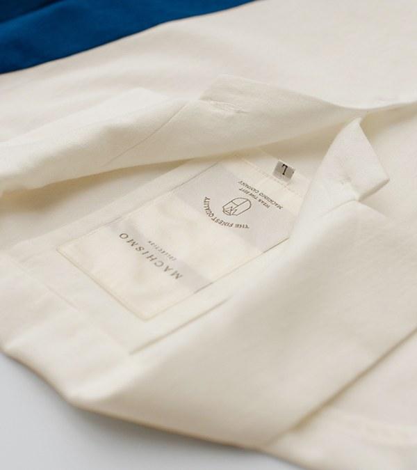 MCM9991 藍染風拼接襯衫