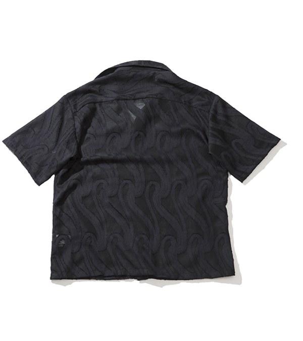 PLT9941 WAVY PATTERN SHIRT 花紋開襟襯衫