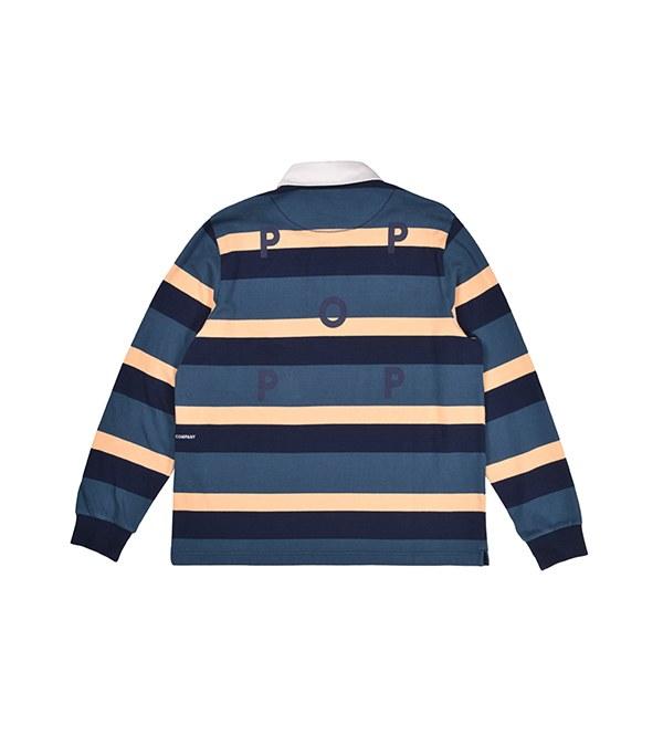 PTC3602 striped rugby polo 條紋橄欖球衫
