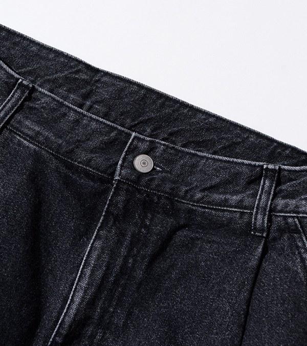 UNB1712 打褶丹寧短褲 one tuck denim shorts
